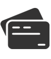 Icon showing debit cards