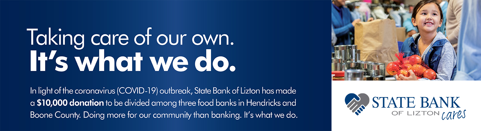 SBL is giving $10,000 to local food banks in Hendricks and Boone Counties