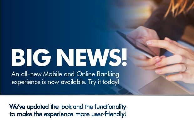 new online banking update