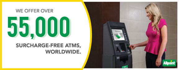 Access 55,000 Surcharge Free ATMs Worldwide
